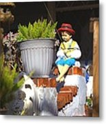 Fishing Off The Front Porch Metal Print