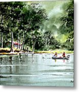Fishing On Lazy Days - Aucilla River Florida Metal Print
