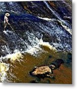 Fishing On The South Fork River Metal Print