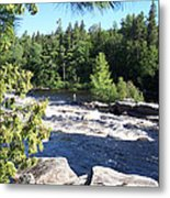 Fishing On The West Branch Metal Print