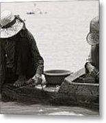 Fishing On Tonle Sap Metal Print
