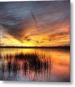 Fishing Pier Sunset Metal Print