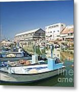 Fishing Port In Jaffa Tel Aviv Israel Metal Print