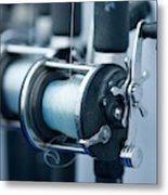 Fishing Reels On A Charter Boat Metal Print