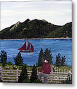 Fishing Schooner Metal Print