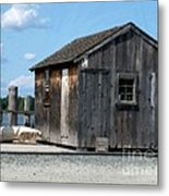 Fishing Shack On The Mystic River Metal Print