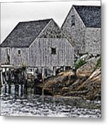 Fishing Sheds At Peggy's Cove Metal Print