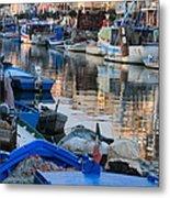 Fishing Ships In Grado Metal Print