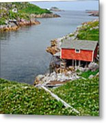 Fishing Stage Little Fogo Island Newfoundland Metal Print