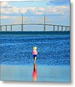 Fishing Tampa Bay Metal Print by David Lee Thompson