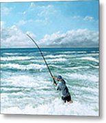 Fishing The Gutters Metal Print