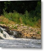 Fishing The Spillway Metal Print