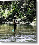 Fishing The Wissahickon Metal Print