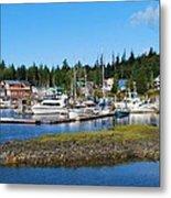 Fishing Village Alaska Metal Print