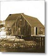 Fishing Wharf At Peggy's Cove Metal Print