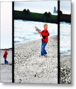 Fishing With Dad - Catch And Release Metal Print