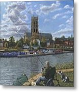 Fishing With Oscar - Doncaster Minster Metal Print