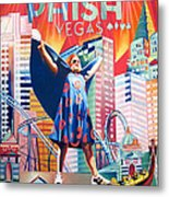 Fishman In Vegas Metal Print