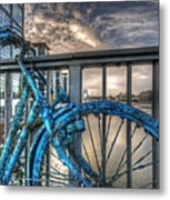 Fishy Bike Metal Print
