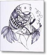 Fishy Metal Print by Chibuzor Ejims