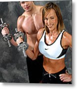 Fitness Couple 17-2 Metal Print