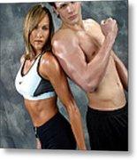 Fitness Couple 43 Metal Print