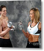 Fitness Couple 9 Metal Print