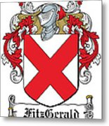Fitzgerald Coat Of Arms Irish Metal Print