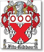 Fitzgibbon Coat Of Arms Irish Metal Print