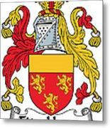 Fitzhenry Coat Of Arms Irish Metal Print