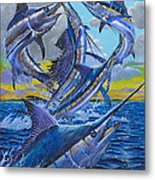 Five Billfish Off00136 Metal Print by Carey Chen