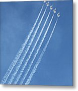 Five F-16 Fighting Falcons Reaching For Some Sky Metal Print