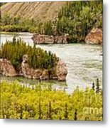Five Finger Rapids Of Yukon River Yukon T Canada Metal Print