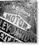 Five Gallon Motorcycle Oil Can Metal Print