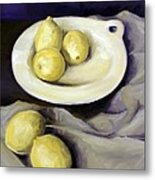Five Lemons Metal Print