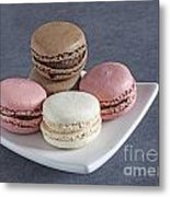 Five Macaroons Metal Print