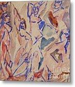 Five Nudes Study Metal Print