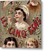 Five Senses Represented By Five Children C1900 Metal Print