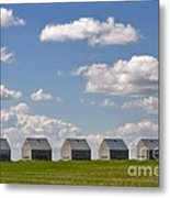 Five Sheds On The Alberta Prairie Metal Print