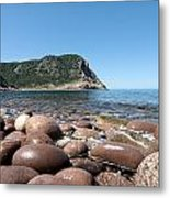 five steps to paradise - Giant pebbles is Menorca north shore close to Cala Pilar beach Metal Print