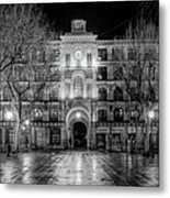 Five Till Seven In Black And White Metal Print