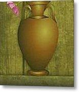 Five Vases One Flower  Metal Print