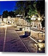 Five Well Square In Zadar Evening View Metal Print