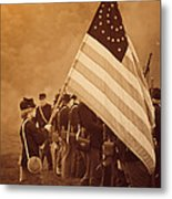 Flag Carrier Metal Print