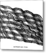 Flag: Dont Tread On Me Metal Print