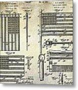 1927 Flag Spreader Patent Drawing Metal Print
