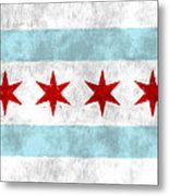 Flag Of Chicago Metal Print