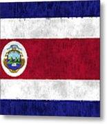 Flag Of Costa Rica Metal Print