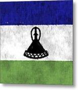 Flag Of Lesotho Metal Print