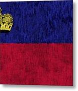 Flag Of Liechtenstein Metal Print